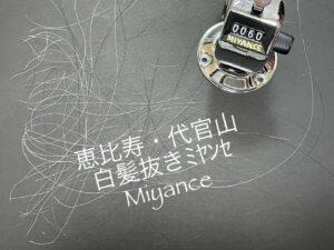 白髪抜きミヤンセ代官山店20分コース4378円60本